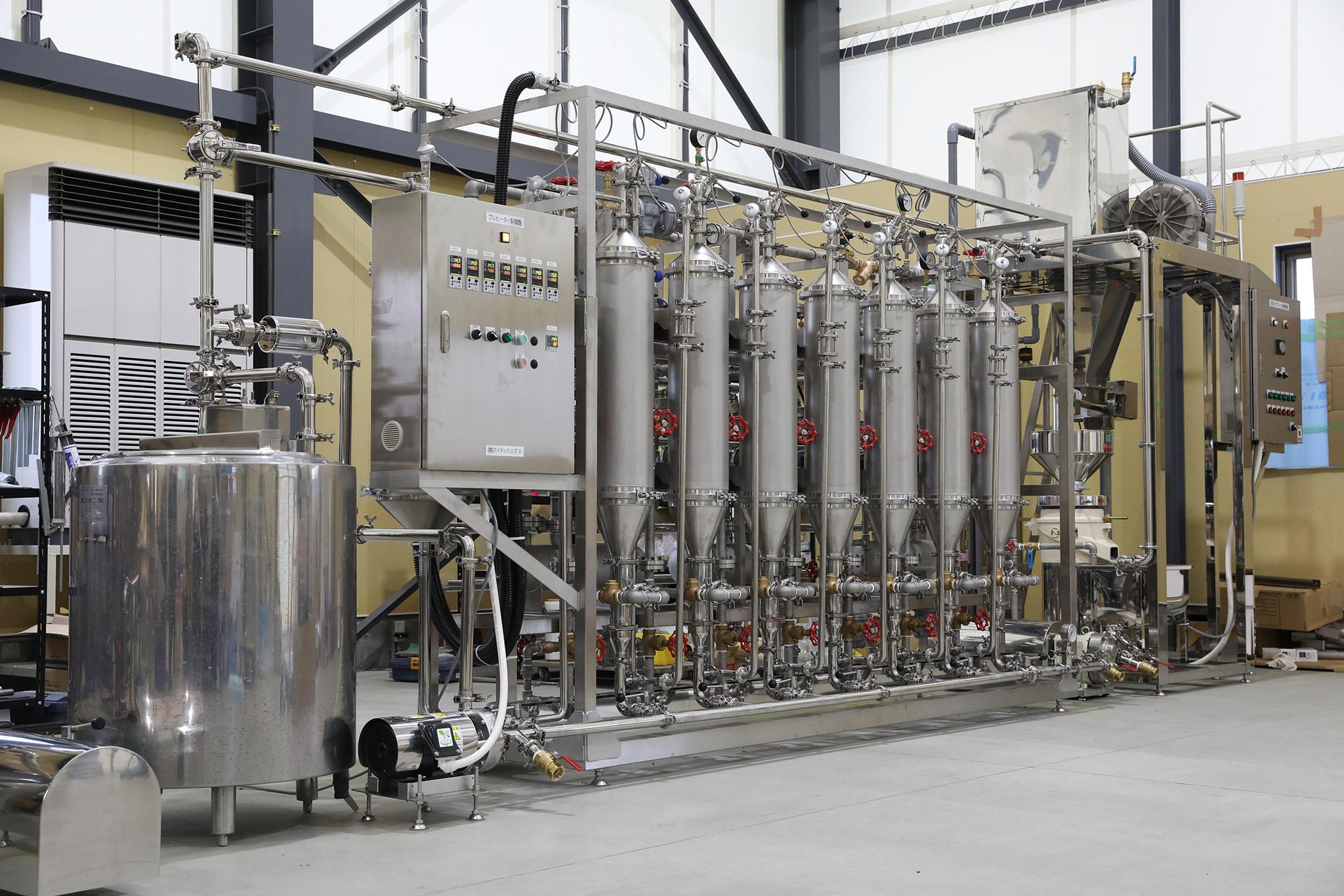 連続式煮沸装置(プレヒーター イメージ